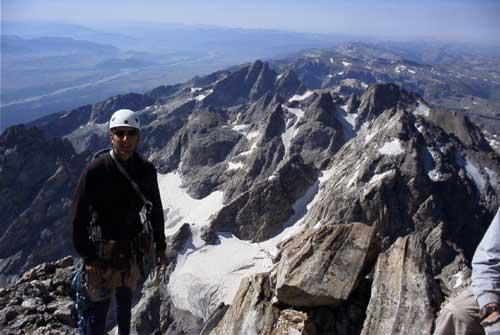 powstash on the summit of The Grand Teton