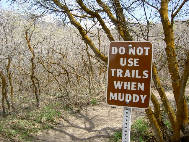 Do Not Ride When Muddy - Draper City Trails (Clark's Trail)