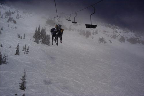 High Campbell Lift at Crystal Mountain, WA