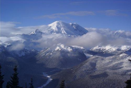 Mt Rainier from the top of Rainier Express