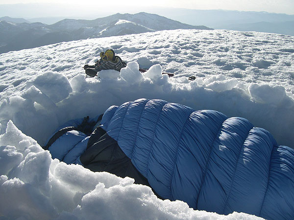 Camping on the summit of Box Elder Peak