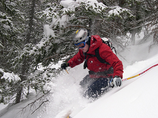 Jason finds untracked powder at Park City