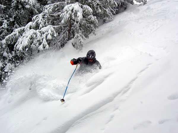 Kendall gets some powder at Park City