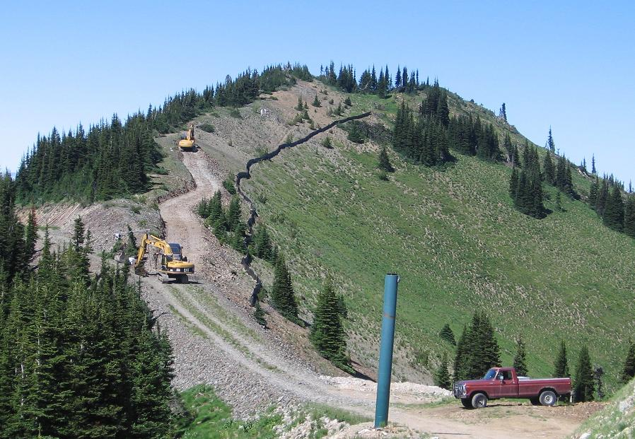 Crystal Mountain Northway Lift Construction