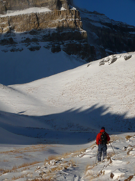 Alex Stoy - skinning toward Emerlad Lake on Timpanogos