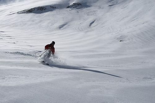 Alex Stoy on Timpanogos - October skiing