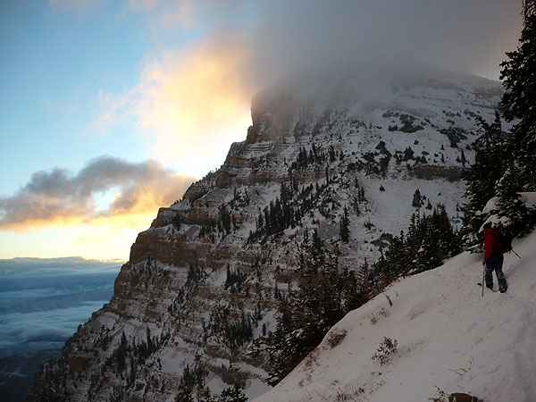 Sunrise on Timpanogos - over Elk Point