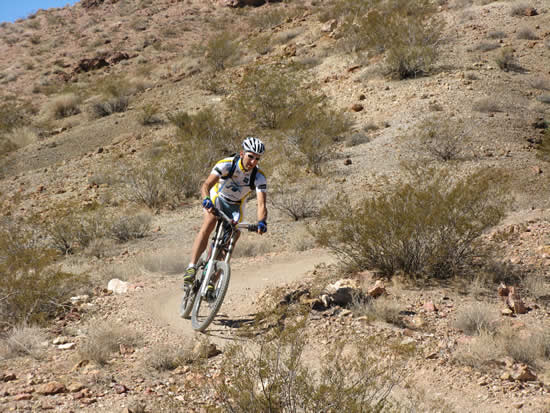 Kendall Card test driving the Specialized 2008 Enduro Carbon Pro SL