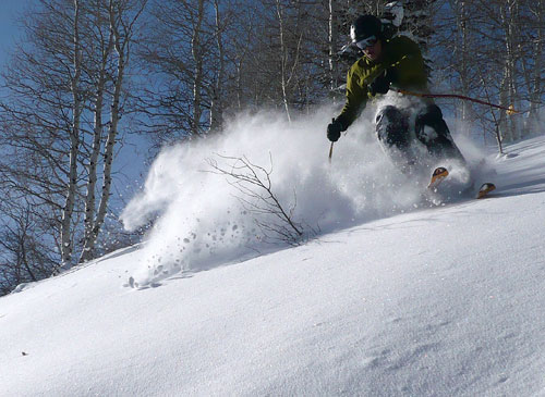 Deer Valley Opens Lady Morgan Express - Tree Skiing