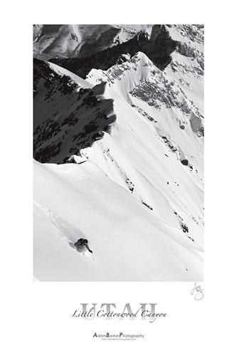 Adam Barker Utah ski poster image of Kendall Card