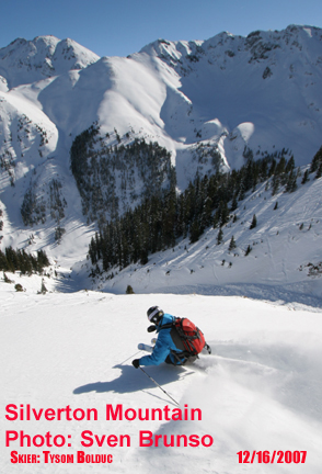 Silverton Mountain Expands December Operation Schedule