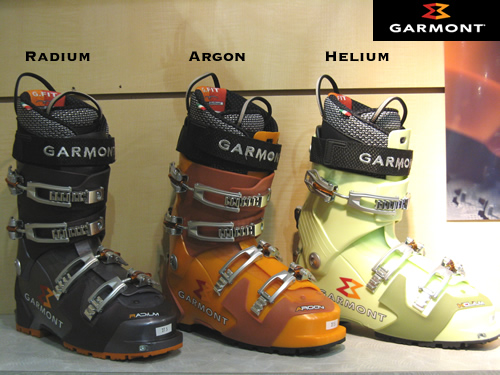 Garmont Radium, Argon and Helium Ski Mountaineering Boots