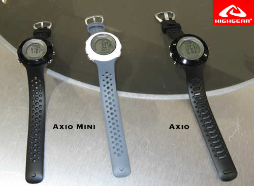 Highgear Axio and Axio Mini Altimeter Watches - New for Fall 2008
