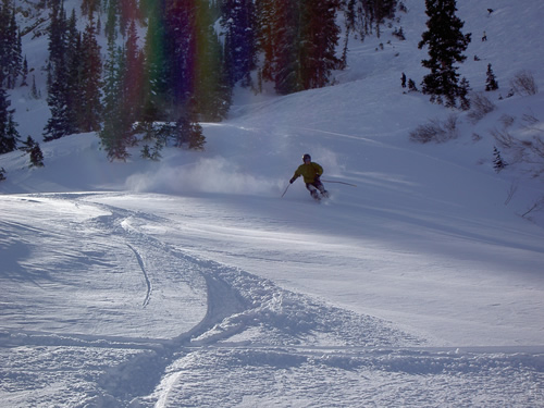 Jason Getting Powder at Alta Ski Resort