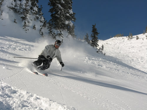 Kendall Card Getting Powder at Alta Ski Resort