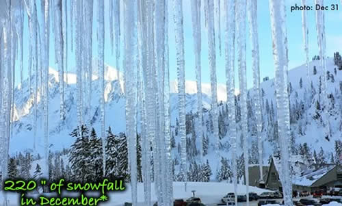 Mt Baker Ski Area Gets 220 inches of Snow in December 2007!