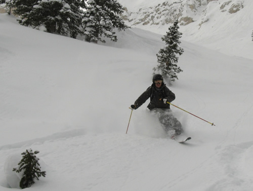 Brigham Graff Getting Knee-deep Freshies in Solitude at Noon on a Saturday!