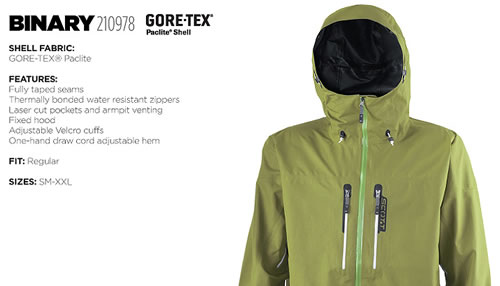 08/09 Scott USA Binary Gore-Tex Paclite Shell Jacket