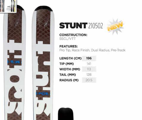 08/09 Scott USA Stunt Alpine Fat Skis