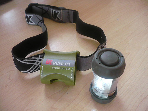 UK Vizion 3AAA eLED Headlamp as a camp light
