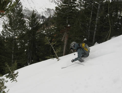 Jason Mitchell - Skiing on Box Elder Peak, Utah