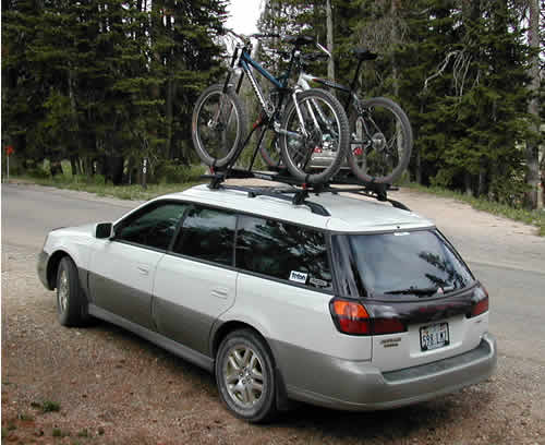 Loaded-down Subaru Outback