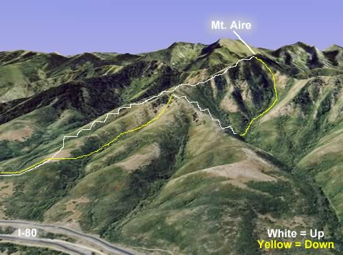 Mt. Aire Backcountry Skiing Tour - Map