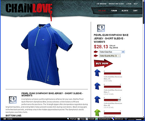 Chainlove.com - Site image from launch day with the Chainlove logo