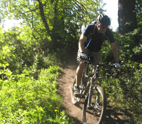 Jason Mitchell Riding in American Fork Canyon on a Rocky Mountain Slayer SXC70