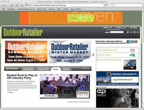 Outdoor Retailer Summer Market 2008
