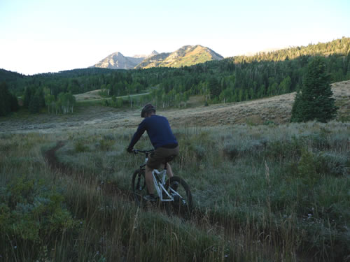 Jason Mitchell Riding on Trail 252 in American Fork Canyon