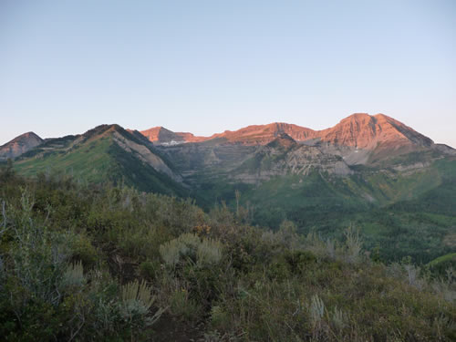 Early-morning View of Mt. Timpanogos from Mud Springs