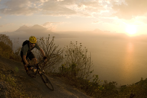 Guatemala Mountain Biking Tour - Sunset