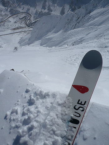 Mount Superior - skiing the south face on my Bluehouse Districts