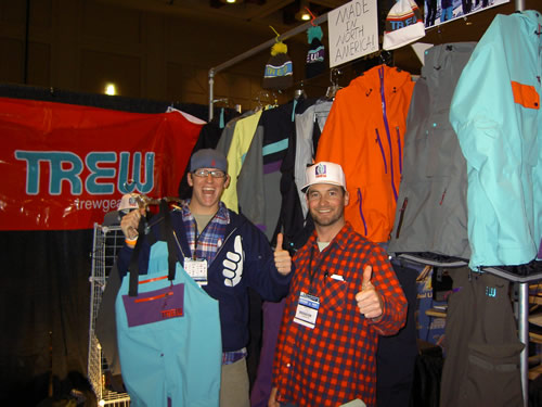 TREW Gear Founders John and Chris Pew at Outdoor Retailer 2009