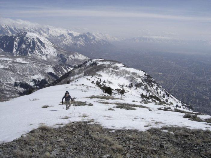 Nearing the summit of Mahogany Mountain near American Fork