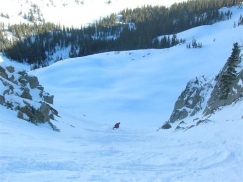 Skiing the Stupid Chute - Utah Backcountry Skiing - Jason Mitchell