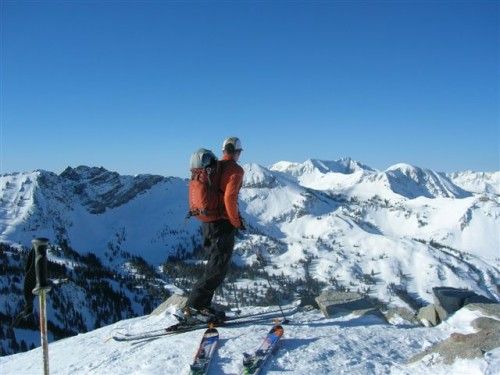 Top of Mt. Wolverine - Utah Backcountry Skiing