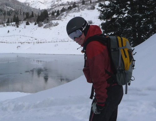 Backcountry.com Stoic Shell Jacket - Jason Mitchell at Tibble Fork Reservoir, Utah