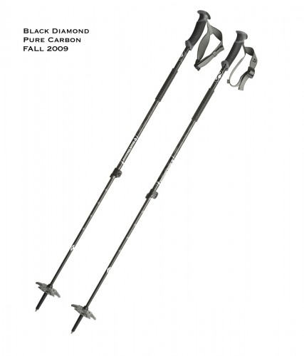 Black Diamond Pure Carbon Adjustable Ski Poles - New for Fall 2009