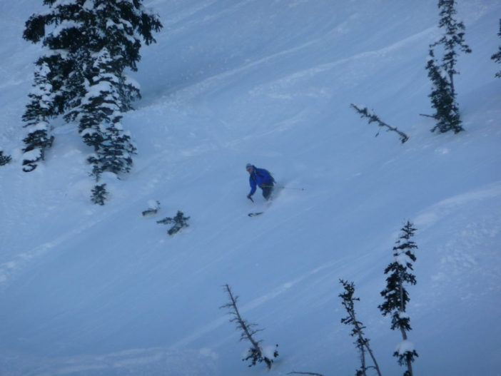 Utah Backcountry Skiing - Rich Lambert tests the Black Diamond Megawatt