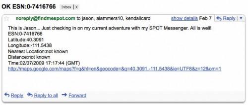 Spot Messenger OK Email