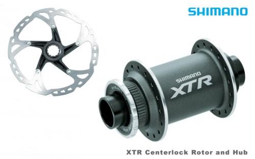 Shimano XTR Centerlock Hub and Rotor