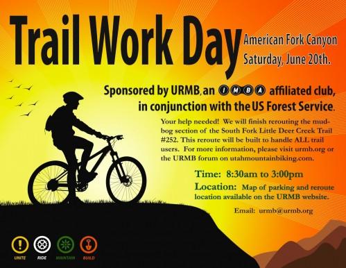 Trail Work Day in American Fork Canyon, Utah - June 20, 2009