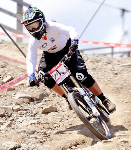Sabrina Jonnier wins DH at Bromont Canada Cup