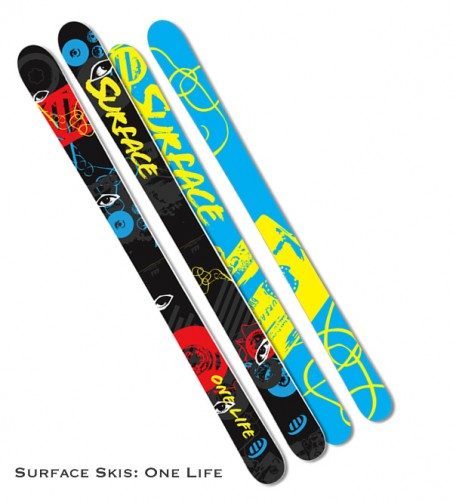 Surface Skis: One Life Rockered Fat Ski