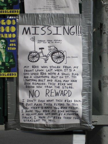 An Open Letter to a Bike Thief