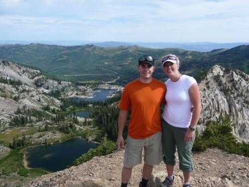 Summit of Sunset Peak, Utah - Lakes Catherine, Martha and Mary in Background