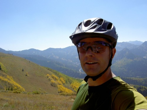 Jason Mitchell Enjoying the Wasatch Crest Trail - Sept 26, 2009