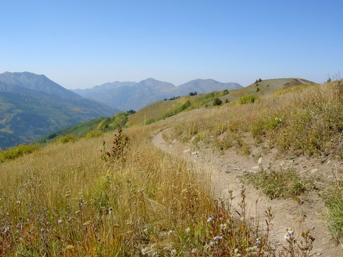 Wasatch Crest Trail - Singletrack... Finally! - Sept 26, 2009